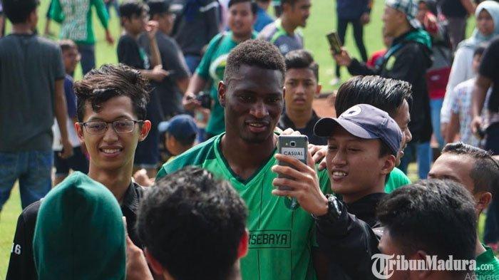 Derby SuramaduPersebaya Vs Madura United,Amido Balde Termotivasi Menang untuk Balas Cinta Bonek