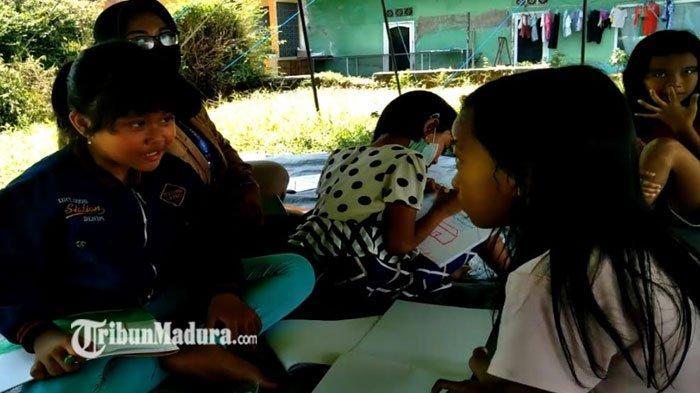 Gempa Bumi di Malang Masih Sisakan Trauma Bagi Anak-Anak di Tenda Pengungsian, ini Upaya Kemensos RI