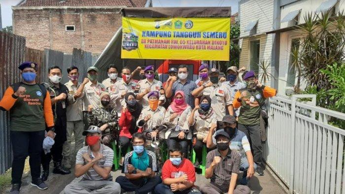 Cegah Penyebaran Covid-19, Relawan FRPB Pamekasan Belajar dari Kampung Tangguh di Dinoyo Kota Malang