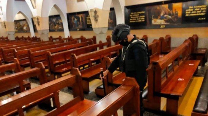 Puncak Perayaan Paskah, Polresta Malang Kota dan Gegana Brimob Polda Jatim Sterilisasi Tiga Gereja