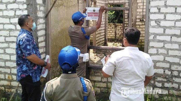 Tim Gabungan Pemkab Bangkalan Sidak ke Perumahan Kebun Asri yang Tidak Kantongi Dokumen Perizinan