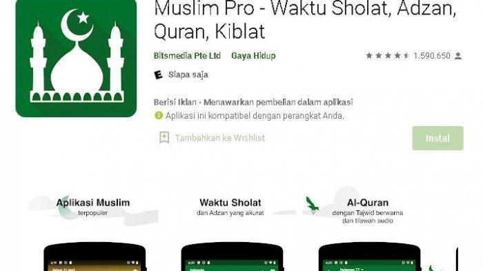 Review Aplikasi Muslim Pro Permudah Aktivitas Ramadhan, Fitur Audio Terjemahan Alquran 70 Bahasa