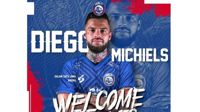 Datangkan Diego Michiels, Arema FC Tutup Perburuan Pemain Lokal untuk Kompetisi Liga 1 2021