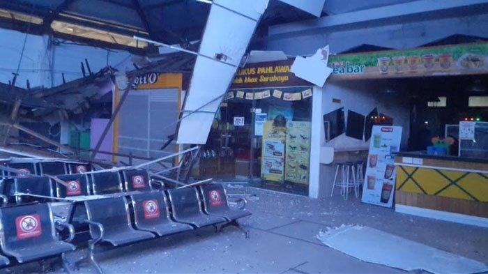 Atap Ruang Tunggu Stasiun Pasar Turi Ambruk, PT KAI Daop 8 Surabaya Pastikan Tidak Ada Korban Jiwa