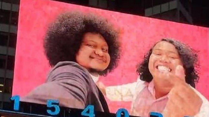 Wajahnya Tampil di Billboard Times Square New York, Babe Cabita dan Marshel Widianto Bilang Begini