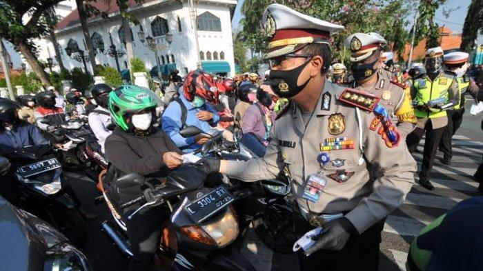 Operasi Patuh Semeru 2020 di Surabaya, Polisi Tekankan Kepatuhan Protokol Kesehatan di Masa Pandemi