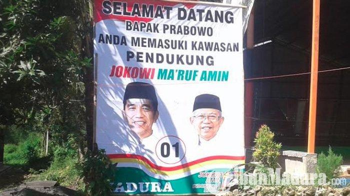 Sambut Prabowo Datang ke Pamekasan, Pendukung Jokowi Pasang Baliho 'Sindiran' di Sepanjang Jalan