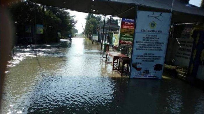 Banjir Luapan Kali Lamong Kembali Rendam Ratusan Rumah dan Sawah 4 Desa di Gresik Selatan