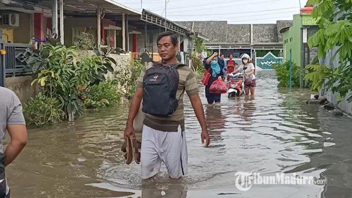 Desa Kewadungan dan Desa Sambirejo Kediri Terendam Banjir Seusai Dilanda Hujan Deras Sejak Rabu