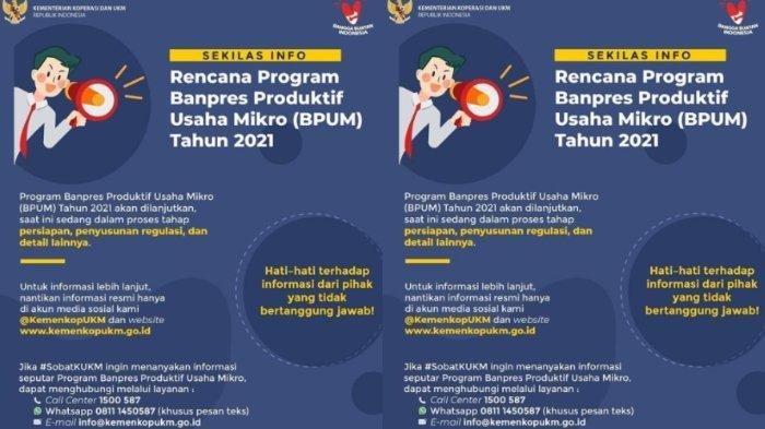 BLT UMKM Rp 2,4 Juta Cair Maret 2021, Simak Syarat dan Cara Daftar untuk Menjadi Penerima BPUM 2021