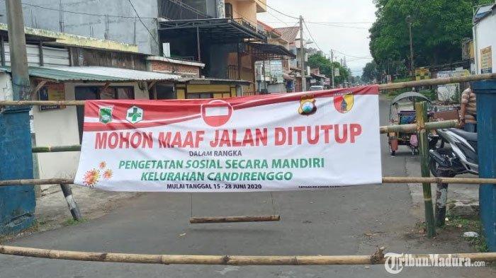 Empat Jalan Utama diSingosari Malang yang Ditutup Akibat Pengetatan Sosial hingga Akhir Juni 2020