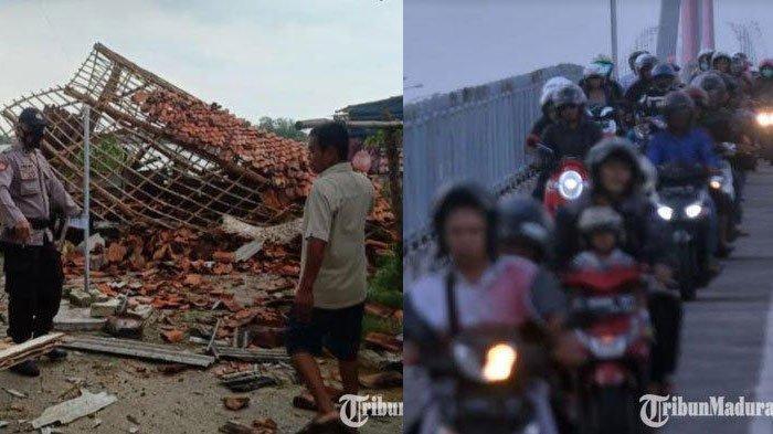Berita Madura Terpopuler Hari ini, Penerapan Jam Malam di Jembatan Suramadu hingga Rumah Warga Rusak