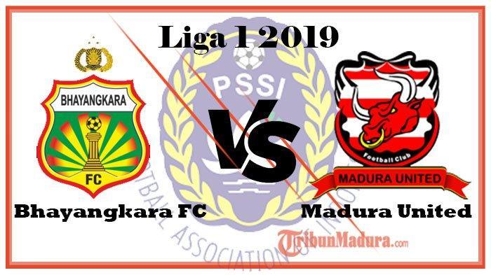 Link Live Streaming Bhayangkara FC Vs Madura United di Liga 1, Bisa Diakses Lewat HP di Mana Saja
