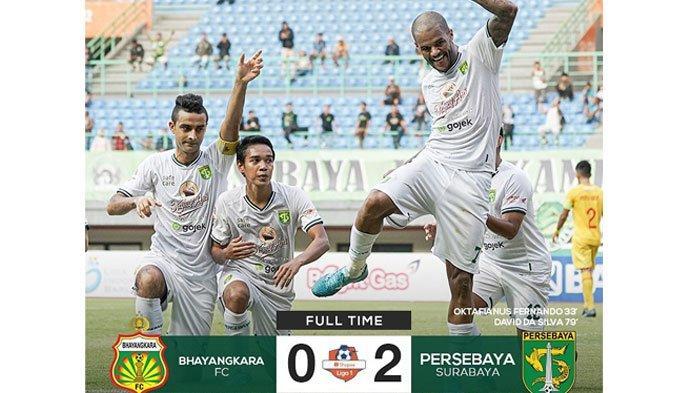 Persebaya Kalahkan Bhayangkara FC di Kandangnya, Oktafianus Fernando & David da Silva Jadi Pahlawan