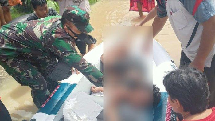 Jerit Minta Tolong Bocah SD di Luapan Banjir Air Sungai Pamekasan, Warga Sekitar Tak Berani Menolong