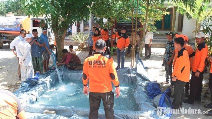PuncakMusim KemarauBelum Tiba, Puluhan Desa di Sampang Madura Alami Kekeringan Kritis