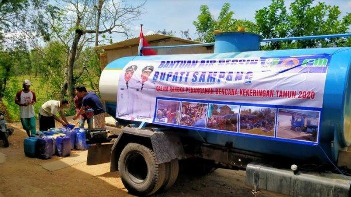 Droping Air Bersih ke 75 Wilayah Terdampak Kekeringan di Sampang Masih Tahap Menunggu SK dari Bupati