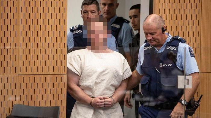 Pelaku Penembakan di Selandia Baru Brenton Tarrant 'Nyengir' saat Berada di Pengadilan