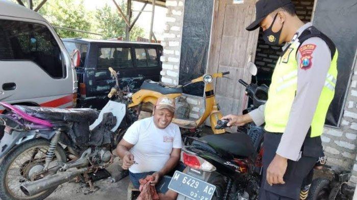 Polsek Pademawu Pamekasan Larang Bengkel Motor Layani Order Pasang Knalpot Brong Jelang Lebaran 2021