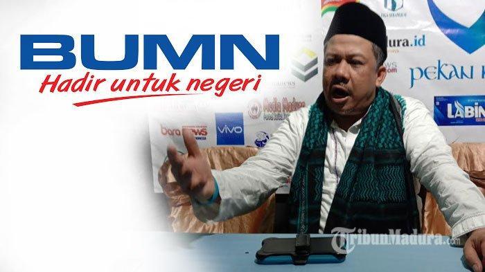Kritik Pedas Politisi Partai Gelora Fahri Hamzah Untuk BUMN, Sebut BUMN Kini Hanya Fokus Bisnis Saja
