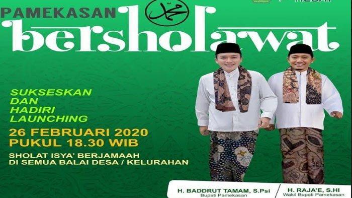 Pemkab Launching Pamekasan Bersholawat, Digelar Serentak di 178 Desa, Wujud Kecintaan Rasulullah SAW