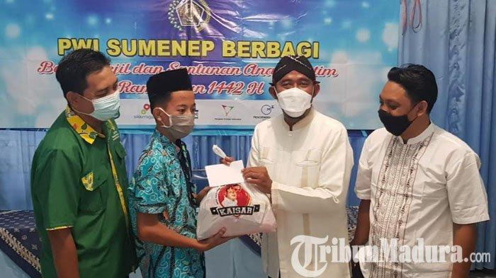 PWI Sumenep Peduli, Gandeng Baznas dan Said Abdullah Institut (SAI) Santuni Anak Yatim