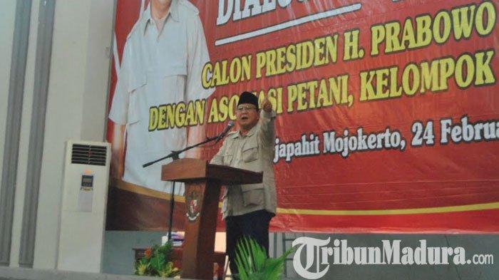 Prabowo Ingatkan Masyarakat Agar Tak Pengaruh Bagi-Bagi Uang: Prabowo-Sandi Tak Mampu Untuk itu