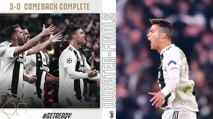 Hat-trick Manis Ronaldo Bawa Juventus Kalahkan Atletico Madrid di Liga Champions 3-0