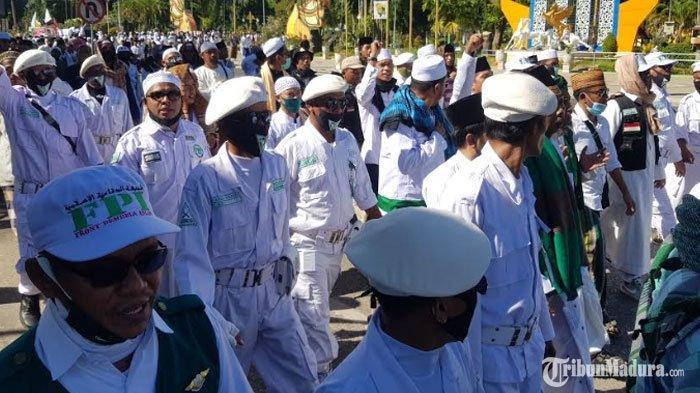 RUU HIP Ditolak Ribuan Anggota FPI,Ketua DPRD Sumenep Janji Sampaikan Aspirasi Massa ke DPR RI