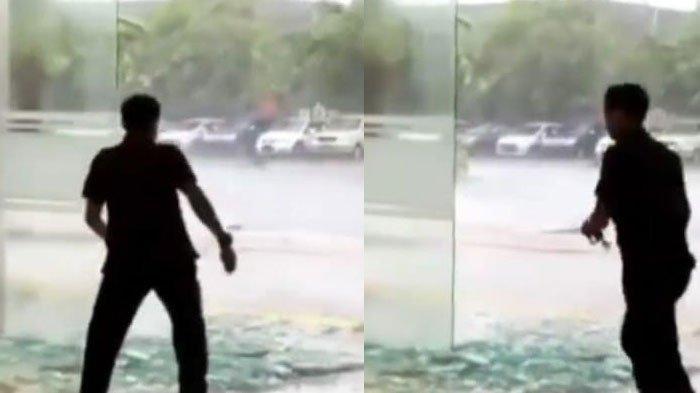 Pintu Kaca Icon Mall Gresik Pecah Diterjang Hujan Lebat dan Angin Kencang, Tak Ada Korban Jiwa