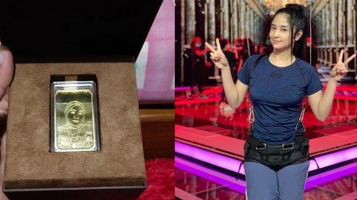 Dewi Perssik Belikan Hadiah Emas Batangan 100 Gram untuk Keluarga di Jember, Harga 1 Emas Rp 95 Juta