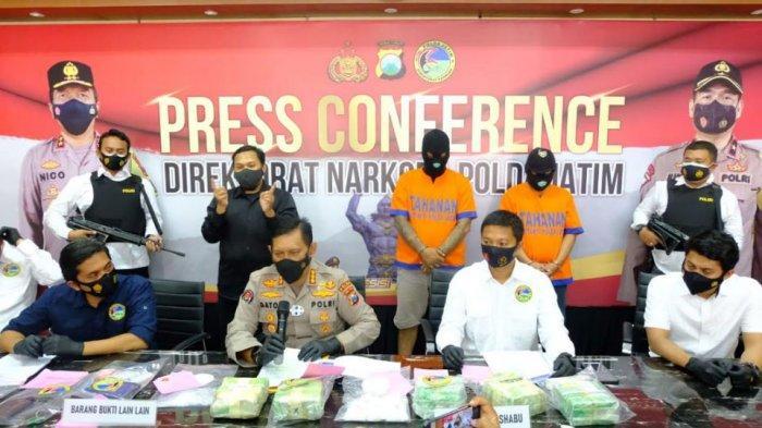 Peredaran Narkoba Jaringan Malaysia di Surabaya dan Sidoarjo Digagalkan Polda Jatim, Sita 6 Kg Sabu