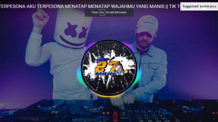 Download Lagu Viral TikTok DJ Terpesona Aku Terpesona Menatap Wajahmu, Yel-Yel TNI dan Polri