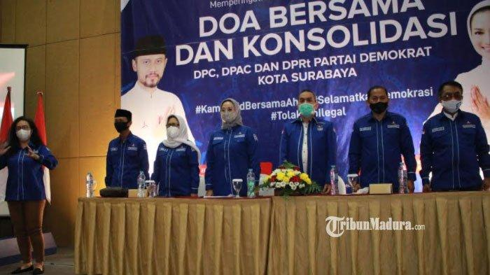Gelar Doa Bersama, Demokrat Surabaya Tegaskan Tetap Solid Dukung AHY, Tolak Hasil KLB Deli Serdang