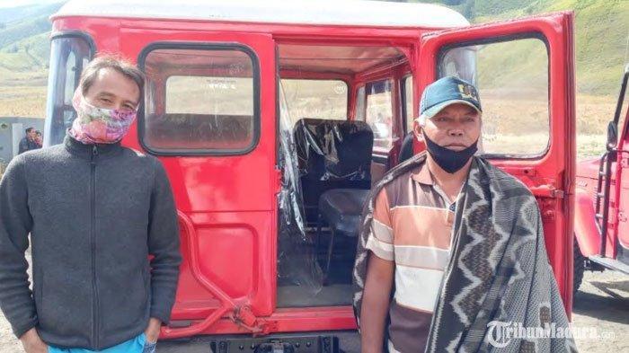 Mobil JeepGunung Bromo Terapkan Physical Distancing, Diberi Sekat antara Pengemudi dan Penumpang