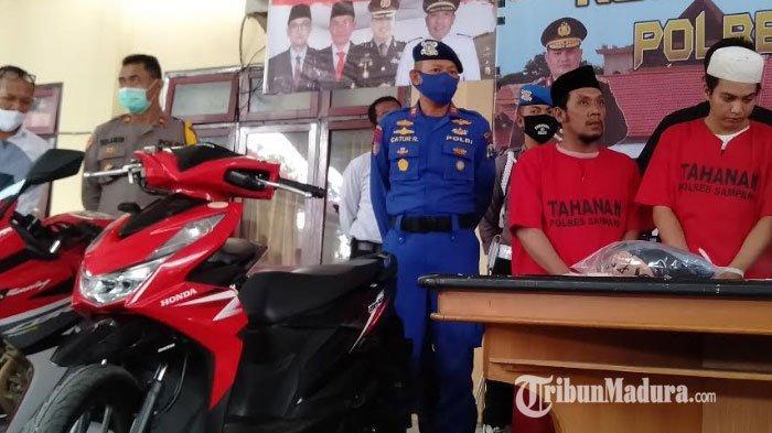 Dua Penadah Motor Bodong di Sampang Ditangkap Polisi Seusai Transaksi di Perairan Pulau Mandangin
