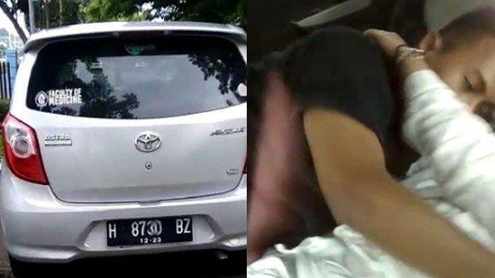 Kasus Mobil Goyang di Semarang, Warga Ketok Jendela Mobil Toyota Agya itu Kabur, ada Stiker Kampus