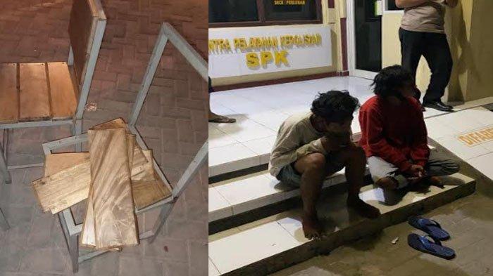 Lempar Kursi hingga Bikin Ricuh di Kafe Aola Paciran Lamongan, Dua Pemuda Mabuk Diciduk Polisi