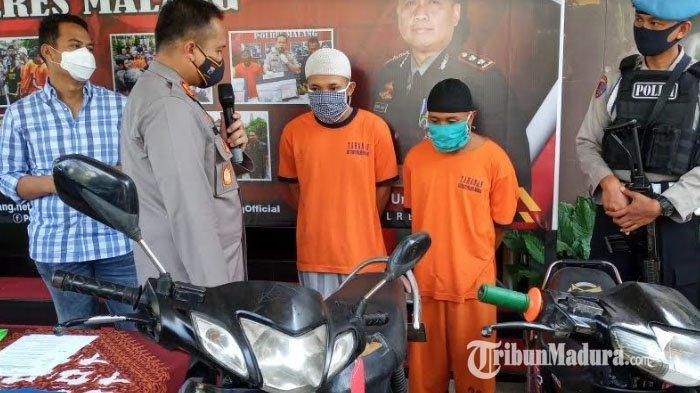 Demi Kebutuhan Hidup, Dua Sekawan Pria di Malang Curi Motor, Putar Arah Kabur Malah Habis Bensin