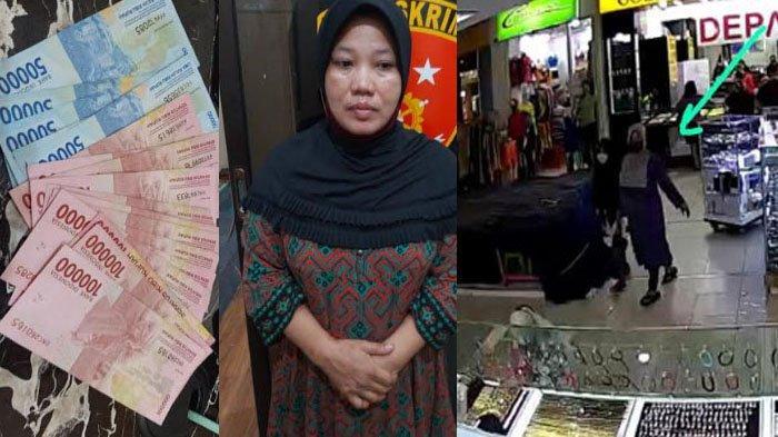 Emak-emak Curi Dompet di Mal Surabaya Selatan, Pura-pura Jadi Pembeli, CCTV Rekam Wajah Pelaku
