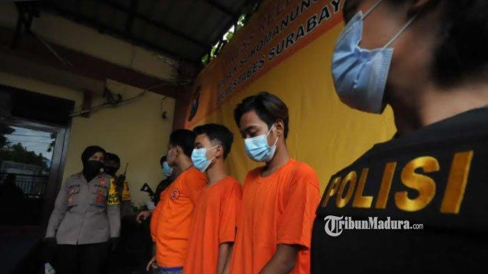 Empat Budak Miras di Surabaya Kehabisan Uang Beli Alkohol, Gelap Mata Jadi Komplotan Perampas HP