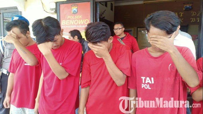 Lagi Asyik Pesta Sabu di Kamar Kos, 4 Remaja Surabaya Tak Berkutik Saat Polisi Dobrak Pintu Kamar