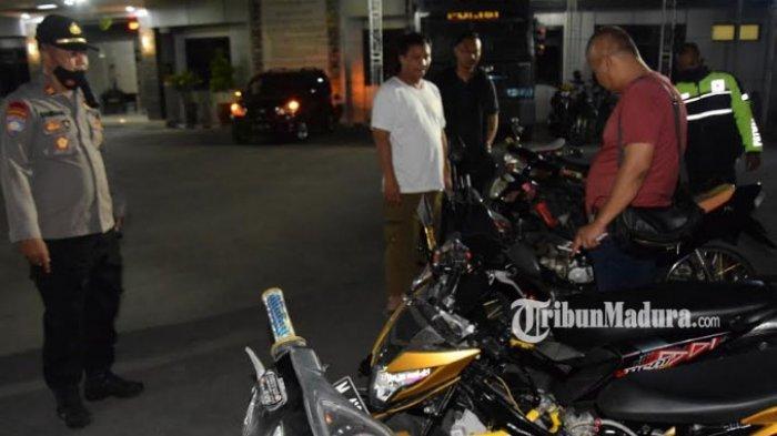 Balap Liar Resahkan Warga, Polres Pamekasan Gelar Razia, 6 Unit Sepeda Motor Berhasil Diamankan