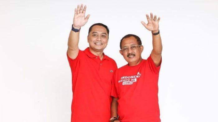 Pasangan Eri Cahyadi-Armuji Jalani Tes Swab Sebelum Daftar ke KPU Surabaya Hari Ini