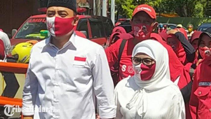 Pertunjukan Reog Sambut Pendaftaran Eri Cahyadi-Armuji di KPU Surabaya, Risma Hadir Menyusul