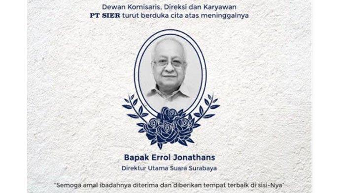 BREAKING NEWS - Dirut Radio Suara Surabaya Errol Jonathans Meninggal Dunia