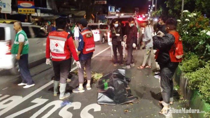 Main Ponsel saat Berkendara, Pengendara Motor Tewas setelah Hantam Median Jalandi Kota Malang