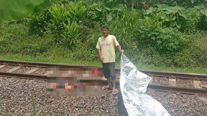 Pria Tanpa Identitas Ditabrak Kereta Api, Korban Terpental Sejauh 500 Meter, Diduga Bunuh Diri