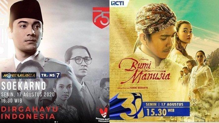 Jadwal Acara TV Senin 17 Agustus 2020 TRANS 7 TRANS TV SCTV RCTI, Ada Film Bumi Manusia dan Soekarno