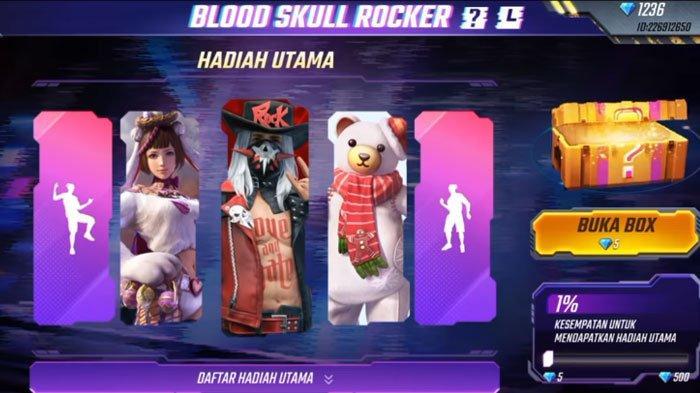 UPDATE Kode Redeem Free Fire atau FF Terbaru pada November 2020, bundle Blood Skull Rocker Menanti